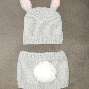 Baby easter photo prop bunny